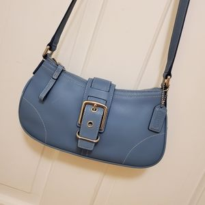 Vintage Coach Hampton Small Buckle Flap bag